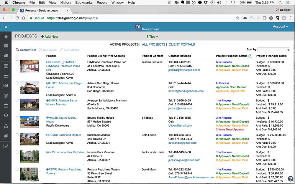Interior design software designerlogic cloud for Interior design project management software
