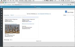 Client View: Showcase Item Detail View